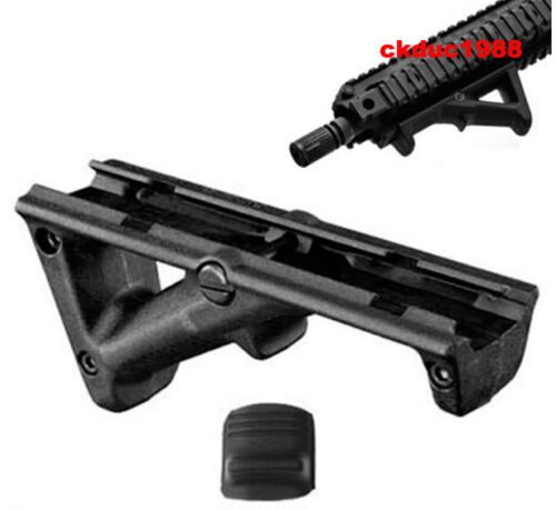 """Black 4.75/"""" Front Hand Guard Front Grip Picatinny Quad Rail Angled Foregrip"""