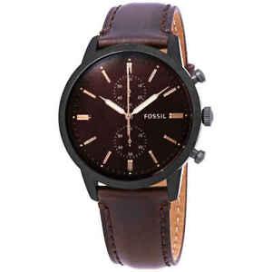 Fossil-Townsman-Chronograph-Brown-Satin-Dial-Men-039-s-Watch-FS5437