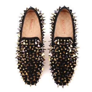 8e0b5f7d57a Image is loading Merlutti-WOMEN-Black-Gold-Rhinestones-Loafers