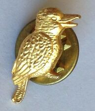 Kookaburra Australian Bird Golden Style Small Pin Brooch Rare Vintage (H3)