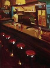 "Pam Ingalls, ""New York Deli"" Diner Interior, digital print, 24""h x 18""w image"