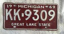 Vintage 1969 Michigan License Plate FREE SHIPPING Visit My eBay Store