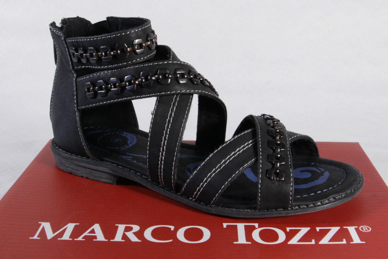 Marco Tozzi Sandalias Cuero Artificial Negro NUEVO