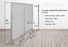 Gof Wall Mounted Office Partition Divider 72w X 48h 72w X 60h 72w X 72h