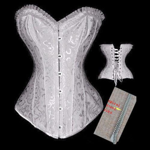 Corset Top Bones Burlesque Basque Moulin Black Waist Trainer BodyShaper Slimming