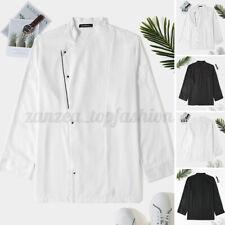 Mens Womens Chef Uniform Restaurant Kitchen Jacket Long Sleeve Catering Coat Top