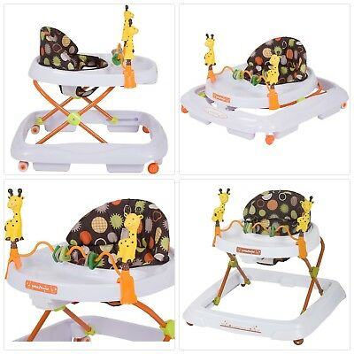 NEW Giraffe Baby Walker Chair Seat Toddler Activity Toy Boys Learning Assistant