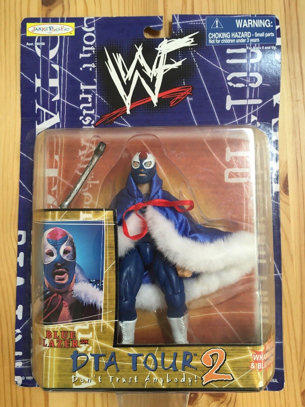 bluee Blazer Owen Hart Wwf Wwe Wrestling Figure Carded Ecw Wcw Njpw Jakks