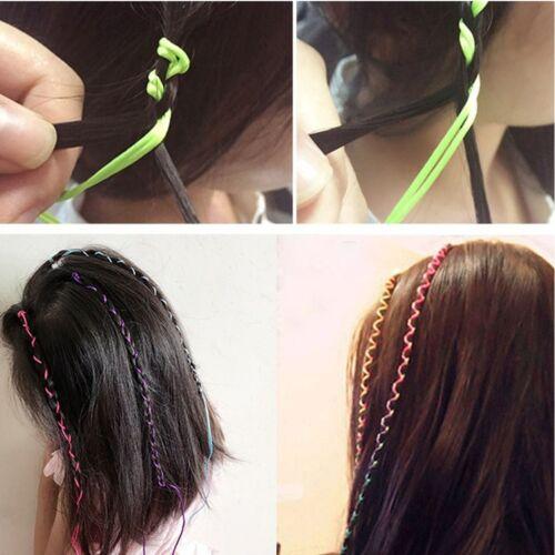 8 Schnüren zum Flechten Bunt Frisurenhilfe Braider Styling-Zubehör Regenbogen