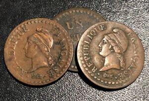 1797-REPUBLIQUE-FRANCAISE-UN-CENTIME-L-039-AN-6-French-Revolution-1-Cent-Coin-Year-6