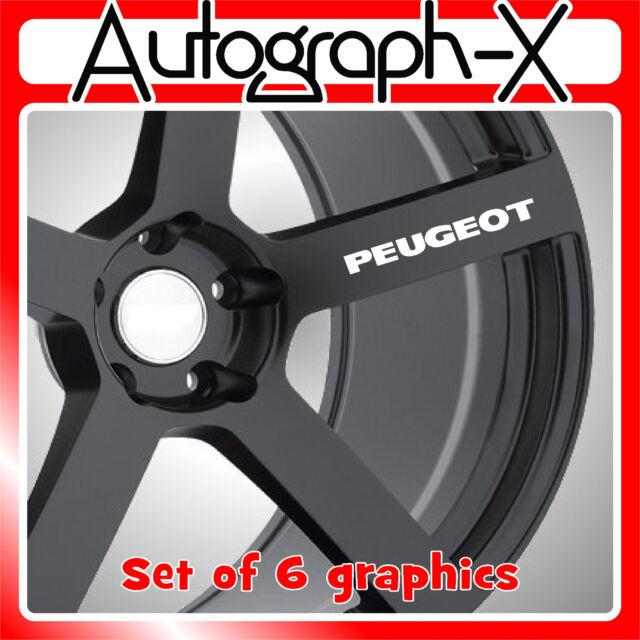 Peugeot alloy wheel self adhesive vinyl graphic sticker decal