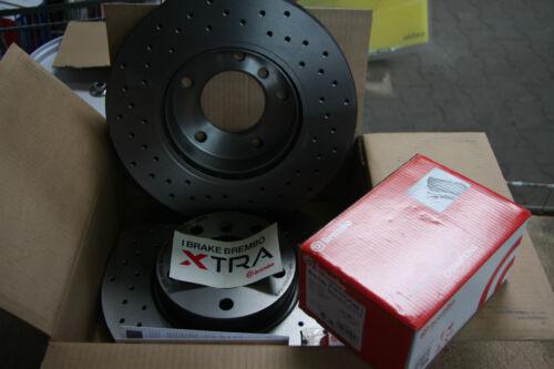 beläge mit Warnkt  AUDI A4 //A6 Satz vorne 288mm Brembo XTRA Bremsscheiben und