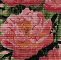 Pink Peony 6 X 6 Loomed Beading Pattern By Karen Zumbrun