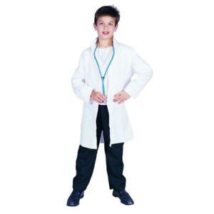 Image is loading WHITE-LAB-COAT-ER-DOCTOR-DR-CHILD-COSTUME-  sc 1 st  Ebay SG & WHITE LAB COAT ER DOCTOR DR CHILD COSTUME SCIENTIST SCRUBS KIDS BOY ...