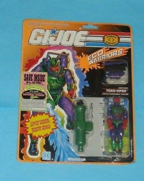 1991 Gi Joe Cobra Eco guerreros Toxo Viper Figura De v2 sellado menta en tarjeta Nuevo en paquete sin abrir
