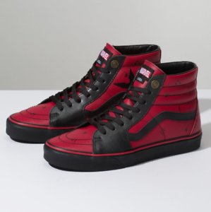 a943bcf32ed6 Vans Sk8-Hi MARVEL DEADPOOL SKATE Shoes Size Men s 6.5 Women s 8 ...