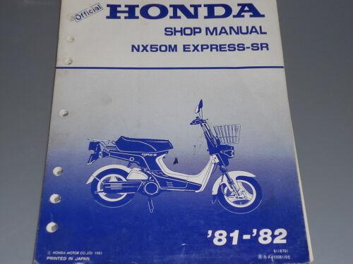 gujarat24news.com Honda Factory Service Manual 1981-1982 NX50 M ...
