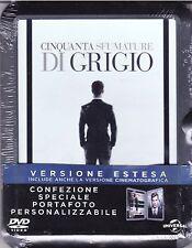 Dvd + Confezione Portafoto «50 CINQUANTA SFUMATURE DI GRIGIO» Vers. Estesa 2015