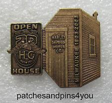 Harley Davidson HOG 20th / Harley Davidson 100th Anniversary Shed Pin New!
