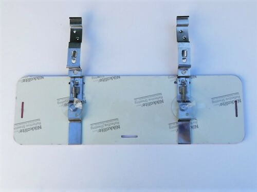 TRADE PLATE HOLDERS DISPLAY NEXT TO PLATE AND COVER UP KIT 2 X PLATE SET