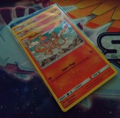 x4 Monferno 22//156 Uncommon Pokemon SM5 Ultra Prism M//NM English