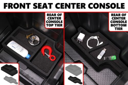 Center Console Organizer 4 pc Set Inserts fits Ram 1500 2019