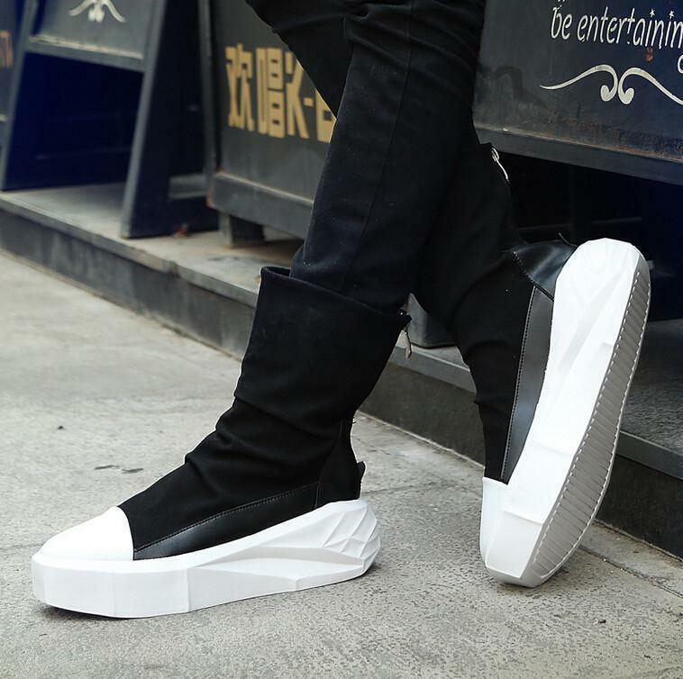 Mens Platform Casual shoes Punk Boots High Top Fashion Sneakers Sports shoes @SY