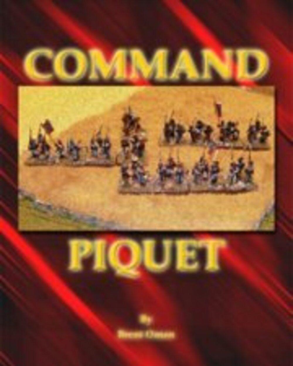 COMMAND PIQUET 1700-1900 A.D - WARGAMES RULES - NEW