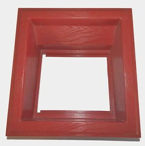 Dynamo Coin Door Frame - Red ABS Plastic For Coin Op Pool Table & Air Hockey