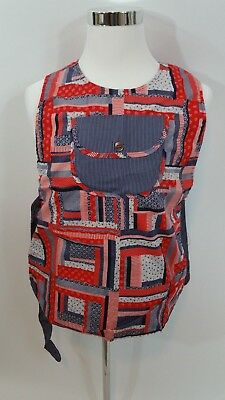 Women's Art's/crafts Pullover Apron Second Hand Rose-american Colors Sz Medium A Complete Range Of Specifications Tops