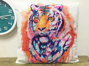 1x-Simple-painting-tiger-Home-Decor-sofa-car-Cushion-Covers-Pillow-Case-18X18