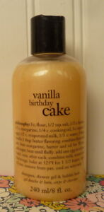 Image Is Loading SEALED PHILOSOPHY VANILLA BIRTHDAY CAKE SHAMPOO SHOWER GEL