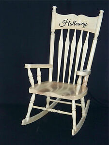 Image Is Loading Personalized Name Sticker Rocking Chair Vinyl Decal Sticker