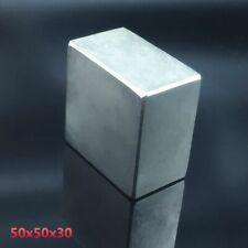 Neodymium Magnet Super Strong Block 50x50x30mm Rare Earth Permanent Square Big