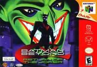 Nintendo N64 Batman Beyond Box Cover Photo Wall Poster 8.5x11 No Game