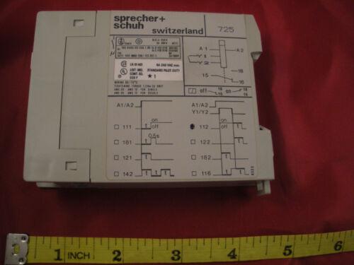 Sprecher Schuh KOP111-D-10S-127 Relay Delayed Timer 0.5-10 sec 100-127v ac Nos