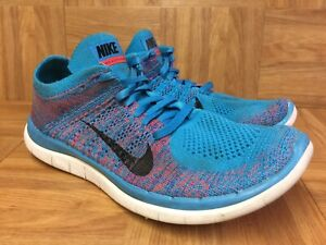 differently a0ef0 f346f Details about RARE🔥 Nike Free 4.0 Flyknit Blue Lagoon Crimson Sz 9.5  631053-403 Men's Shoess