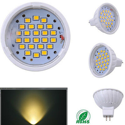 DC12V 12W MR16 SMD Spotlight Warm White Energy Saving Bulbs Led Light Lamps