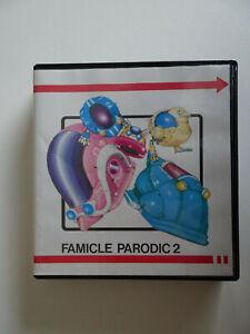 MSX-034-famicle-parodic-2-034-2-disquettes-nouveau-dans-neuf-dans-sa-boite-avec-notice-de-japonais