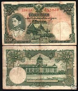 Image Is Loading Thailand 20 Baht P36 1939 Elephant King Rama