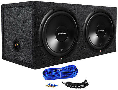 "(2) Rockford Fosgate R2D2-12 12"" 1000w Subwoofers + Sealed Sub Enclosure Box"