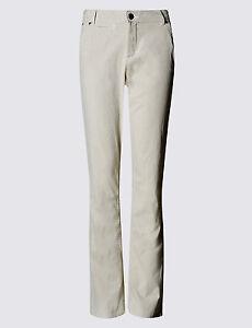 New M/&S Per Una Roma Rise Pink Ticking Striped Cropped Trousers Sz UK 12 14