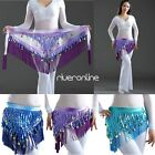 Women Belly Dance Hip scarf Wrap Belt Waist Chain with Sequined Coins Costume