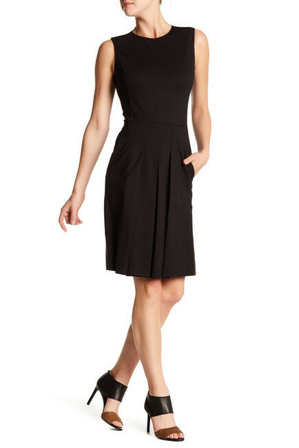 Vince. schwarz Sleeveless Fitted Dress 6 M NWT