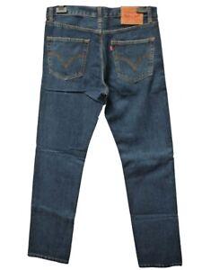 Levi-501-Jeans-Mens-Original-Levi-039-s-Strauss-Denim-Straight-Fit-Dark-Blue-New