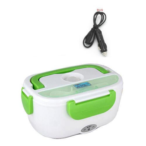 12V Portable Electric Heated Heating Lunch Box Bento Travel Food Warmer Car Plug