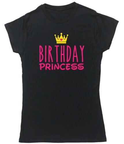 Birthday Princess t-shirt fitted short sleeve womens birthday cake party