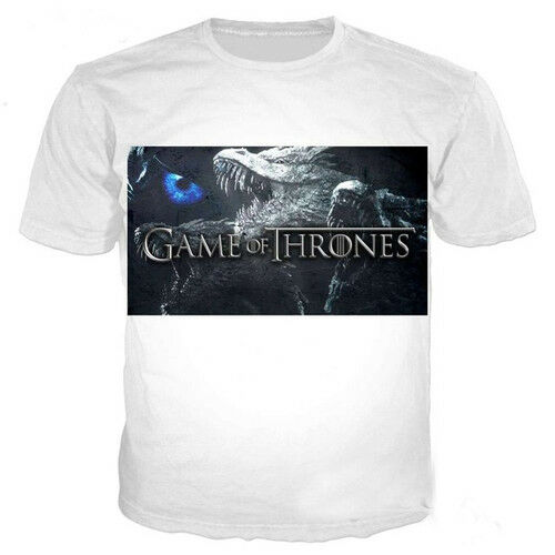 New Fashion Game of Thrones 3D T-Shirt Full Print Color Tee Men Women Size S-5XL