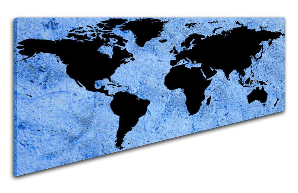 150x50cm Panorama Toile la fresque carte du monde terre Global Chassis