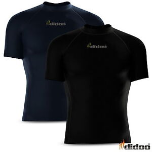Mens-Compression-Base-layer-tops-Half-sleeve-tight-fit-Armour-running-shirt-gym